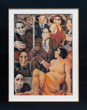 Remo Squillantini AMMIRAZIONE - PA firmata a lapis e siglata dal maestro 70x50 cm - 1995