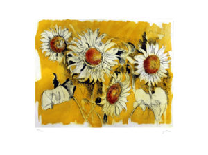 Renato Guttuso LES TOURNESOLS Incisione all'acquaforte 86x67 cm - 1992