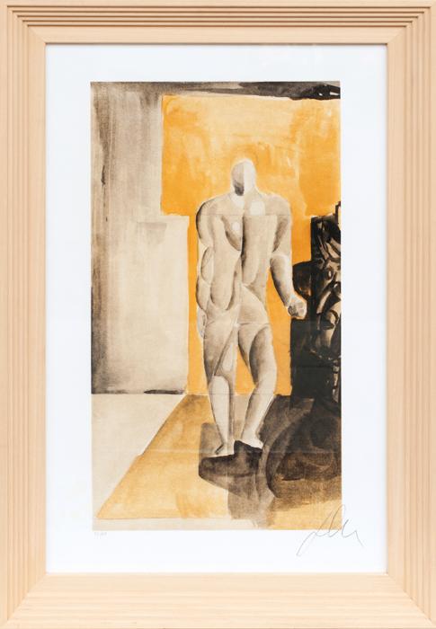 Sandro Chia FIGURA Litografia originale 50x75 cm